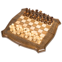 Шахматы + Нарды резные ручной работы 30 см, Грачия Оганян