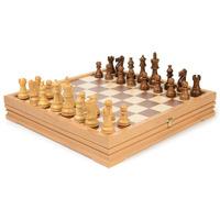 Шахматы + шашки деревянные 37 см