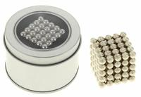 """Антистресс магнит """"Неокуб"""" 125 шариков d=0,6 см (серебро)"""