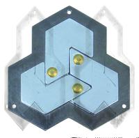 Головоломка Шестиугольник / Cast Puzzle Hexagon (уровень сложности 4)