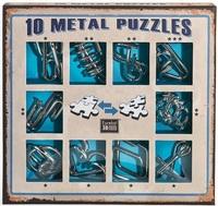 Набор из 10 металлических головоломок (синий) / 10 Metal Puzzles blue set