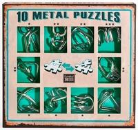Набор из 10 металлических головоломок (зеленый) / 10 Metal Puzzles green set