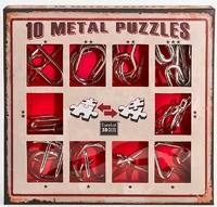 Набор из 10 металлических головоломок (красный) / 10 Metal Puzzles red set