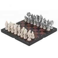"""Шахматы """"Северные народы"""" креноид, змеевик"""