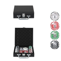 Набор для покера Leather Black на 100 фишек