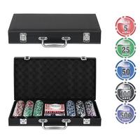 Набор для покера Leather Black на 300 фишек