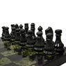 Шахматы камень, змеевик доска 1