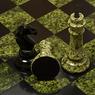 Шахматы камень, змеевик доска 2